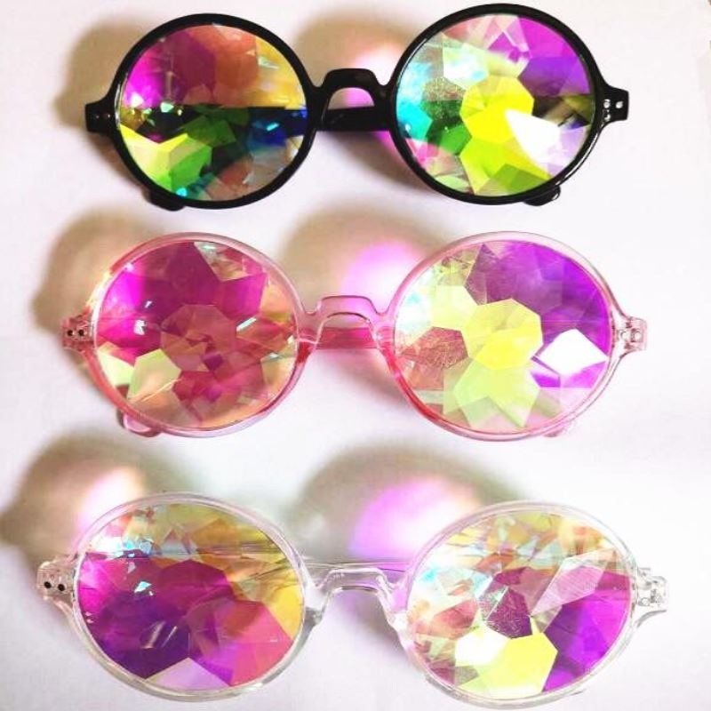 Round Kaleidoscope Sunglasses Sunglasses Loom Rack