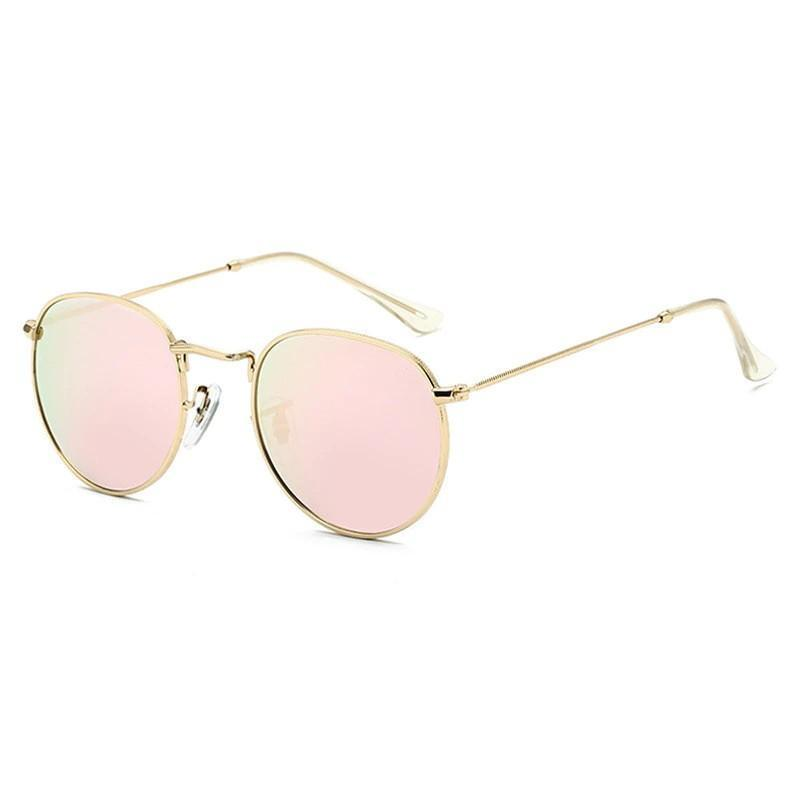 Round Mirror Sunglasses Sunglasses gold violet