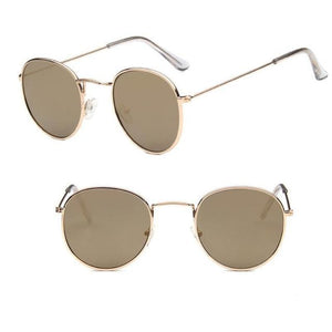Round Mirror Sunglasses Sunglasses Loom Rack Gold Gold