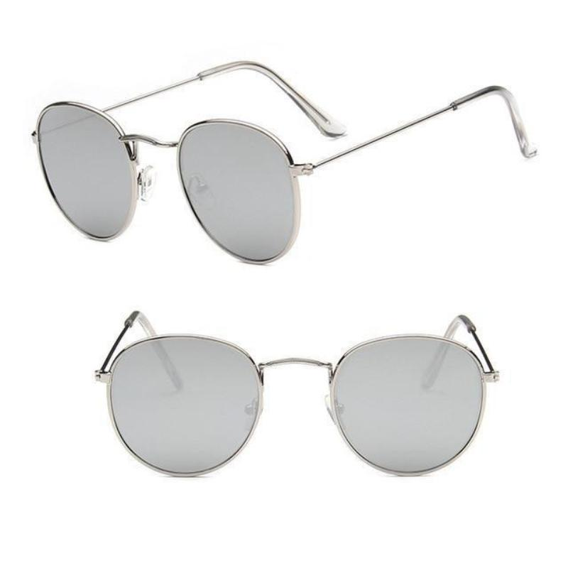 Round Mirror Sunglasses Sunglasses Loom Rack Silver Mercury