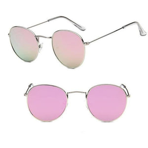 Round Mirror Sunglasses Sunglasses silver pink