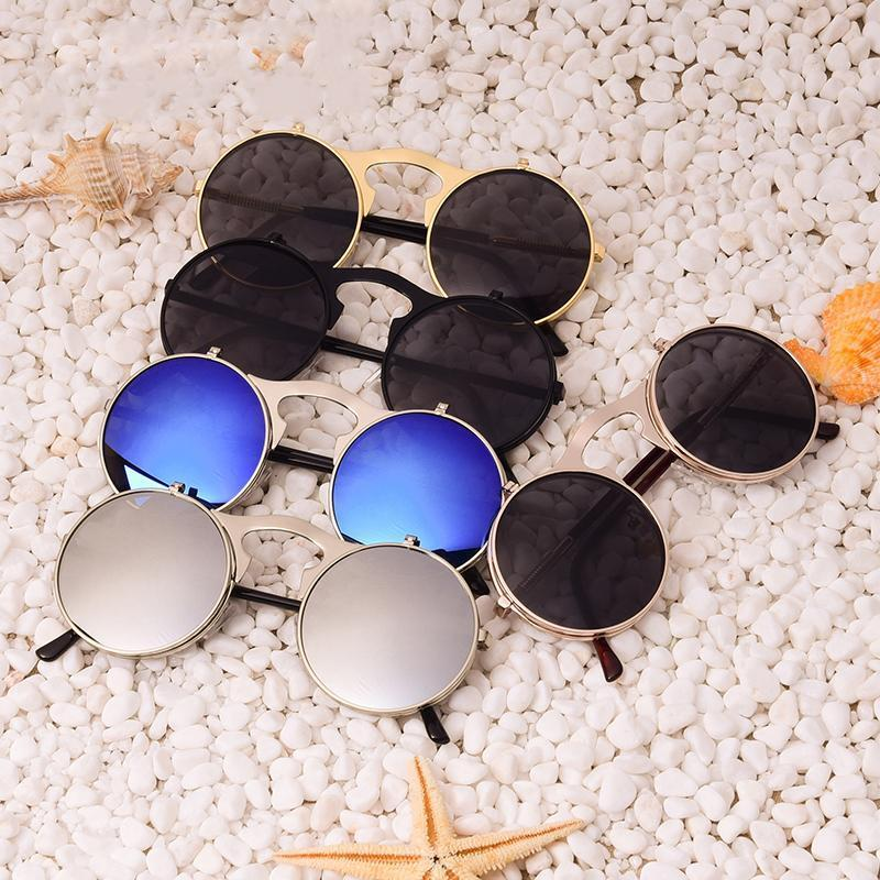 Round Steampunk Sunglasses Sunglasses Loom Rack