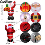 Santa Inflatable Lawn Decoration Christmas Accessories Loom Rack
