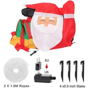 Santa Inflatable Lawn Decoration Christmas Accessories Loom Rack EU