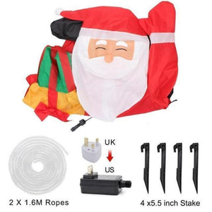 Santa Inflatable Lawn Decoration Christmas Accessories Loom Rack UK
