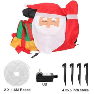 Santa Inflatable Lawn Decoration Christmas Accessories Loom Rack US