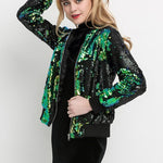 Sequin Bomber Jacket - Woman's Jackets Loom Rack