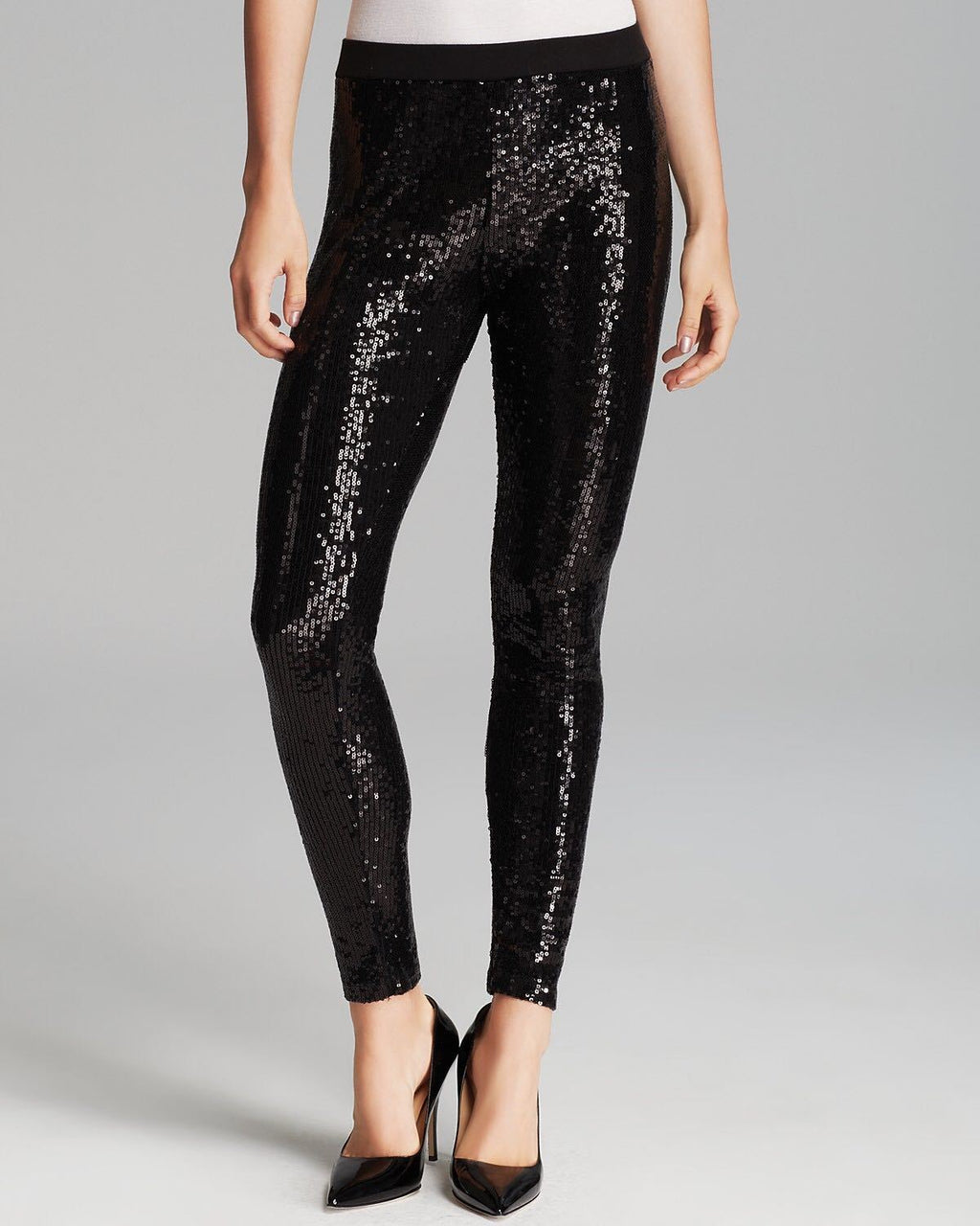 Sequin Leggings Leggings Loom Rack Black S