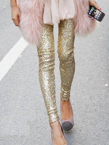 Sequin Leggings Leggings Loom Rack Gold S