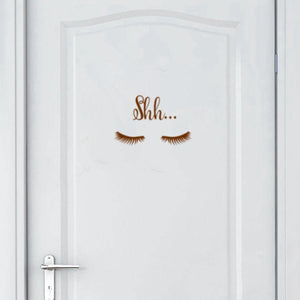 Shh Eye Wall Decal Wall art Loom Rack