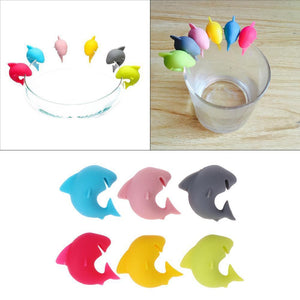 Silicone Shark Wine Glass Accessory Set Wine Accessories Loom Rack