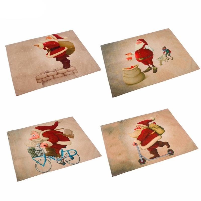 Silly Santa Christmas Linen Placemats Christmas Accessories Loom Rack