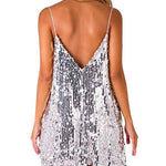 Silver Sequin Mini Party Dress Girl's Dresses Loom Rack