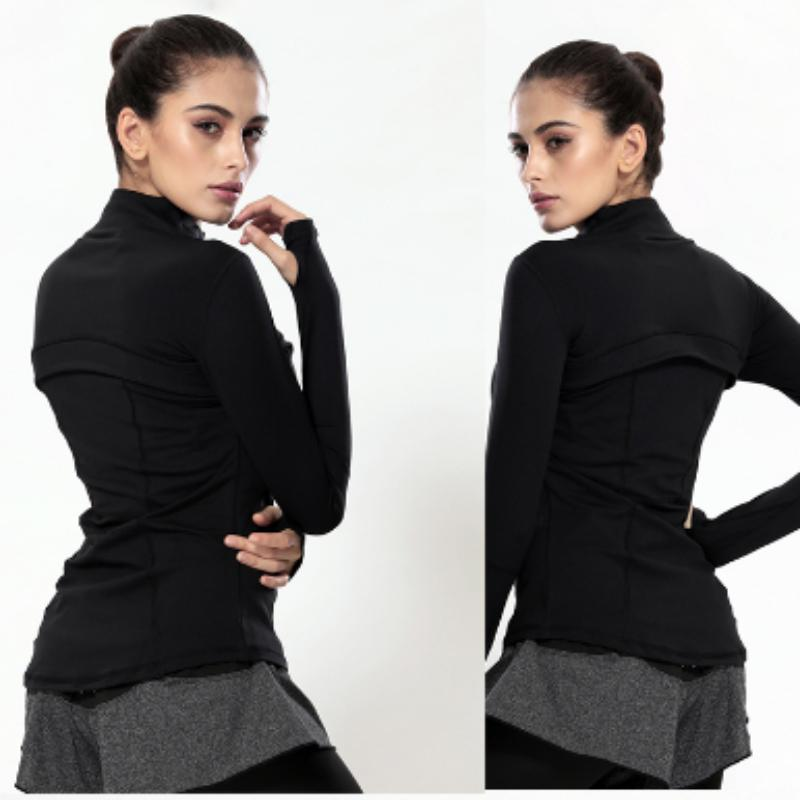 Slim Fit Quick Dry Zipper Running Yoga Jacket Sports Jackets Loom Rack