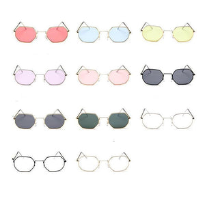 Small Vintage Metal Hexagon Frame Sunglasses Sunglasses Loom Rack