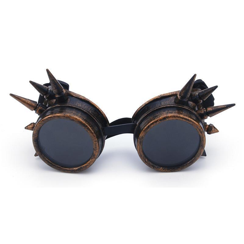 Spiked Goggle Sunglasses Sunglasses Loom Rack bronze