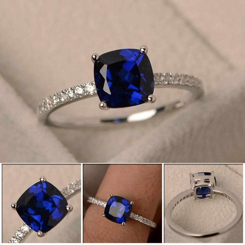 Square Birthstone Ring Rings 6 / LB