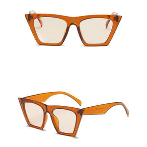 Squared Cat Eye Frames Sunglasses Loom Rack