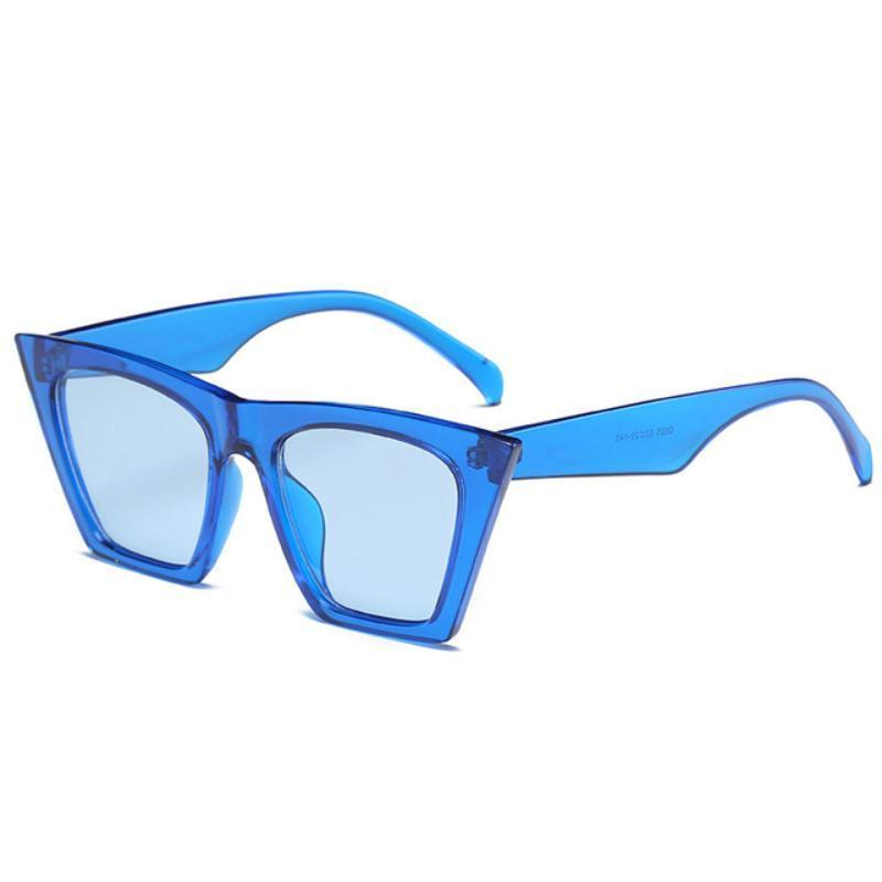 Squared Cat Eye Frames Sunglasses Loom Rack Blue