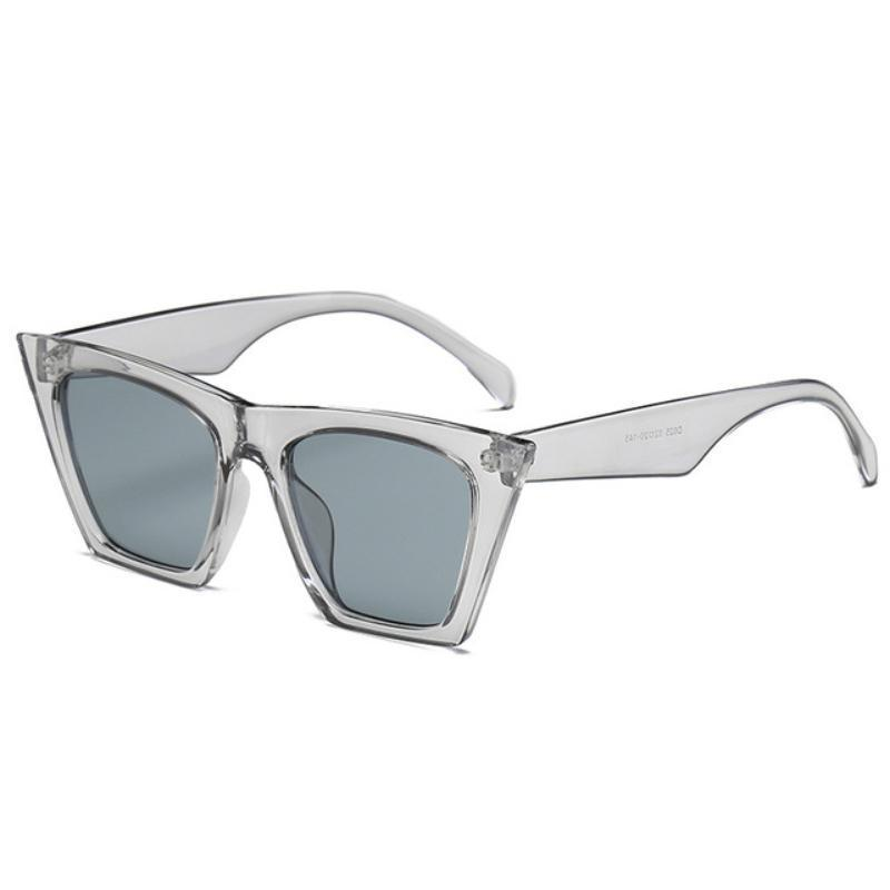 Squared Cat Eye Frames Sunglasses Loom Rack Gray