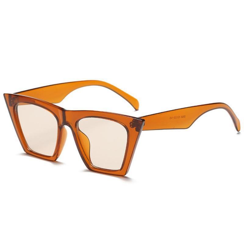 Squared Cat Eye Frames Sunglasses Loom Rack Orange