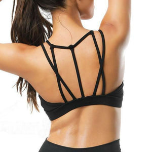 Strappy Mesh Push-up Workout Bralette Sports Bras Loom Rack