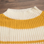 Striped Long Sleeve Sweater Clothing Loom Rack