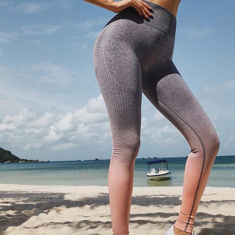 Strive Seamless Ombre Premium Leggings Leggings Loom Rack