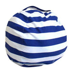 Stuffed Animal Toy Storage Bean Bag Baby Accessories Loom Rack Diameter 140CM Blue Stripes United States