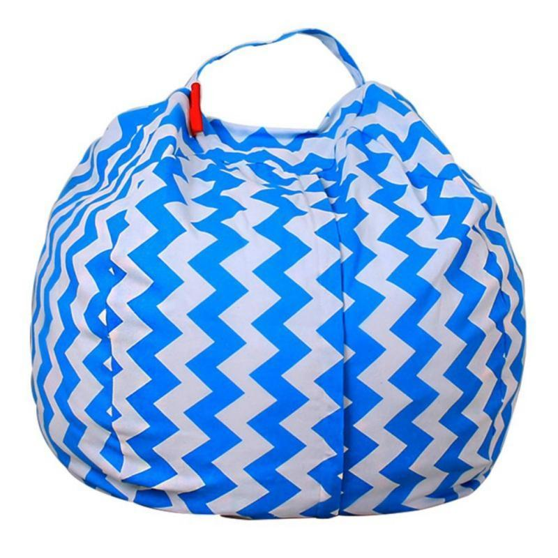 Stuffed Animal Toy Storage Bean Bag Baby Accessories Loom Rack Diameter 140CM Blue ZigZag United States