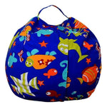 Stuffed Animal Toy Storage Bean Bag Baby Accessories Loom Rack Diameter 140CM Fishes United States