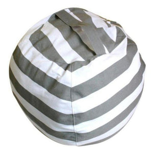 Stuffed Animal Toy Storage Bean Bag Baby Accessories Loom Rack Diameter 140CM Grey Stripes United States