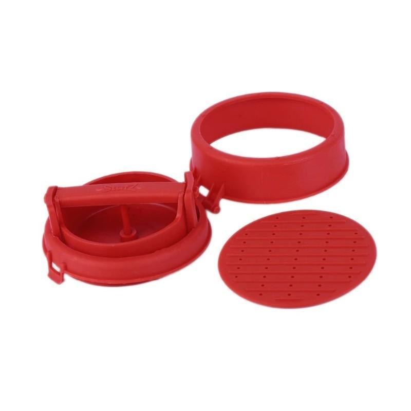 Stuffed Hamburger Maker Kitchen Red
