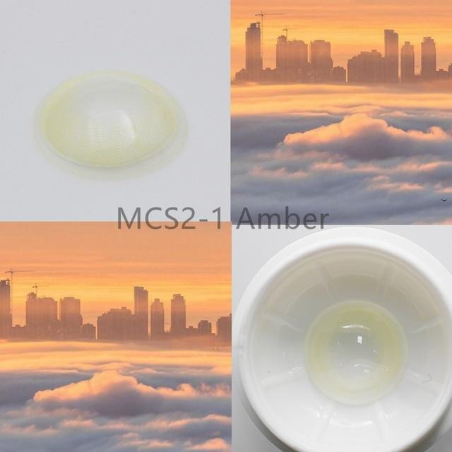 Super Natural Looking Colored Contact Lenses Health & Beauty Loom Rack MCS2-1 Amber