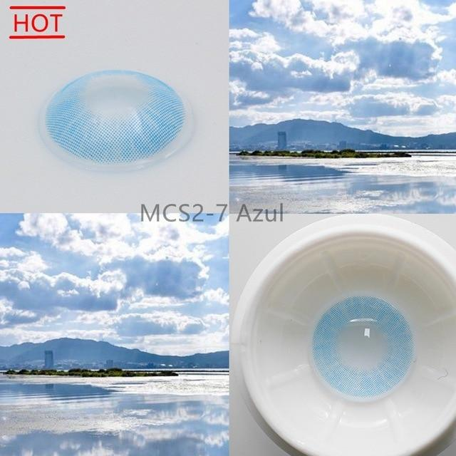 Super Natural Looking Colored Contact Lenses Health & Beauty Loom Rack MCS2-7 Azul