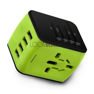 The Best Universal Travel Adapter Travel Accessories Loom Rack Green 4-USB
