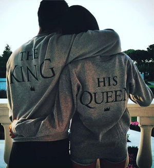 The King His Queen Long Sleeve Pullover T-Shirts Loom Rack