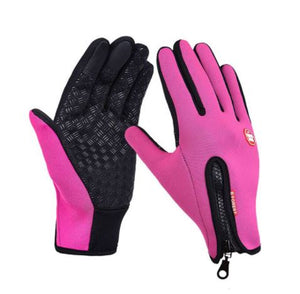 Thermala™ Premium Thermal Windproof Gloves (Unisex) Fitness Loom Rack Pink S