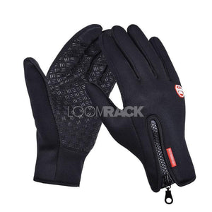 Thermala™ Premium Thermal Windproof Gloves (Unisex) Sports Gloves Loom Rack Black S