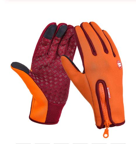 Thermala™ Premium Thermal Windproof Gloves (Unisex) Sports Gloves Loom Rack Orange S