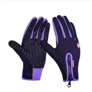 Thermala™ Premium Thermal Windproof Gloves (Unisex) Sports Gloves Loom Rack Purple S