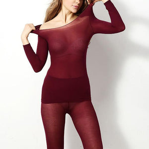 Thermica37™ - Winter Thermal Under Garment Under Garment Loom Rack Wine Red
