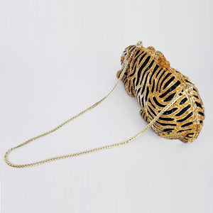 Tiger Crystal Evening Clutch Evening Bags Loom Rack