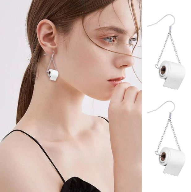 Toilet Paper Roll Earrings Accessories LoomRack A