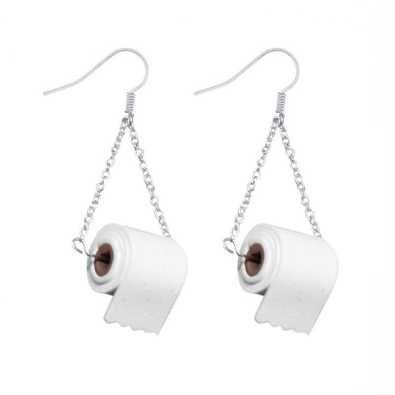 Toilet Paper Roll Earrings Earrings LoomRack