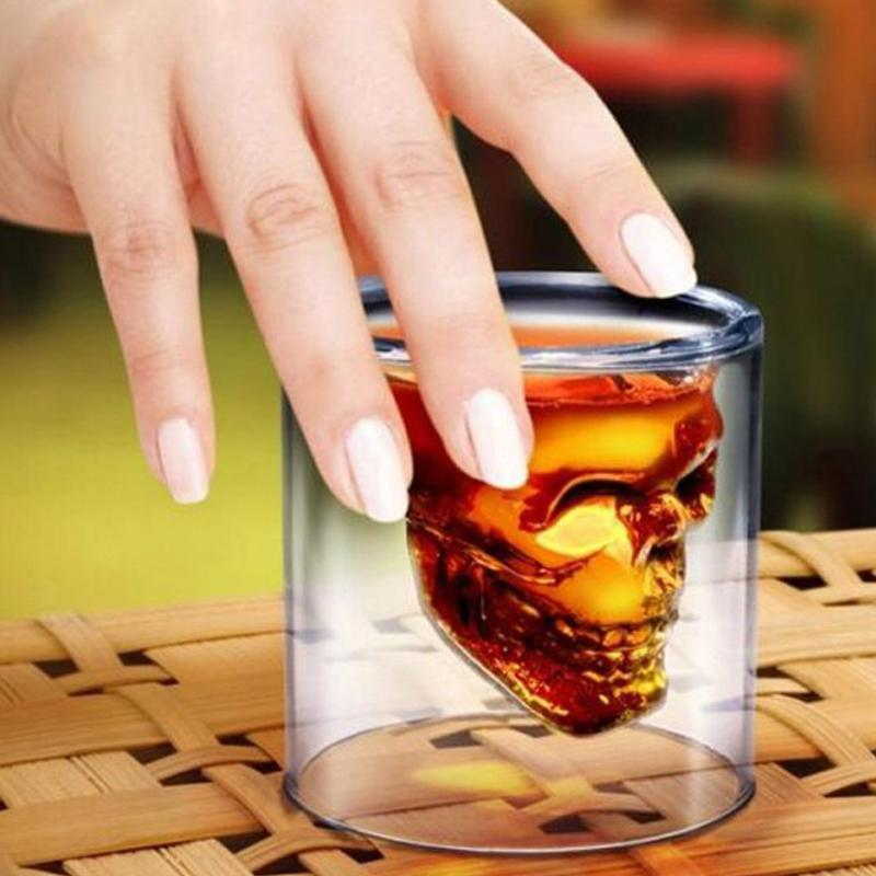 Transparent Skull Whiskey Glasses/Shot Glasses Wine Glasses Loom Rack