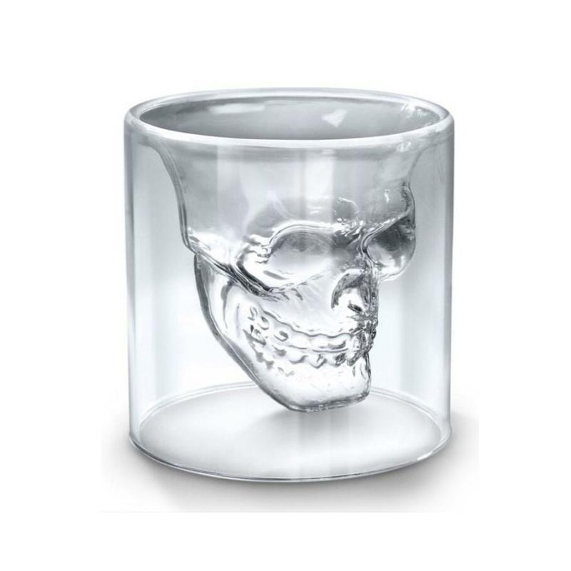 Transparent Skull Whiskey Glasses/Shot Glasses Wine Glasses Loom Rack 25ml