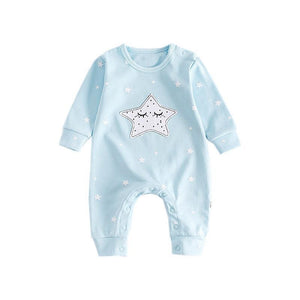 Twinkle Twinkle Little Star Moon Romper Rompers Loom Rack Bule 3M
