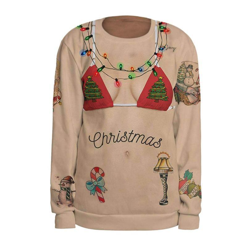Ugly Christmas Sweater - Bikini Sweatshirt Christmas Ugly Sweaters Loom Rack