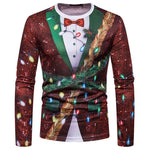 Ugly Christmas Sweater Long Sleeve T-Shirt - Sequin Tux w/lights Christmas Ugly Sweaters Loom Rack S